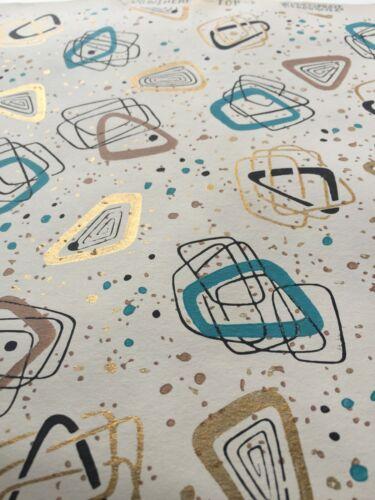 "Mid-Century Modern Vintage Atomic Age NOS wallpaper roll 2.5"" diameter"