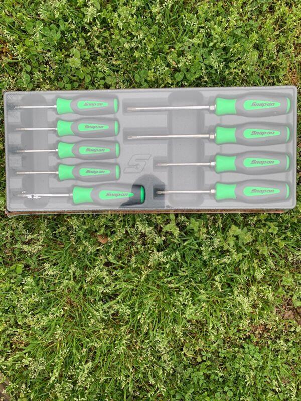 Snap On Torx Screwdriver Set. New 9 Pc Green Set