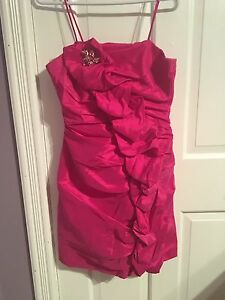 Beautiful fuchsia pink formal dress