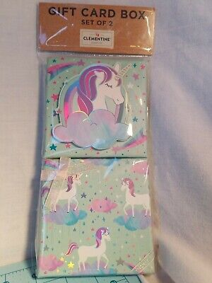 Clementine Paper - Unicorn Theme Gift Card Box Set in Pastel Colors, Brand New (Cards Gift Box Set)