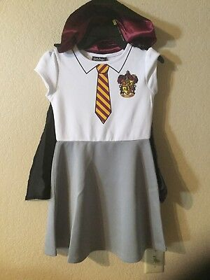 Harry Potter Hermione Granger Costume Gryffindor Dress & Cloak Size M(7/8) - Costume Hermione Granger