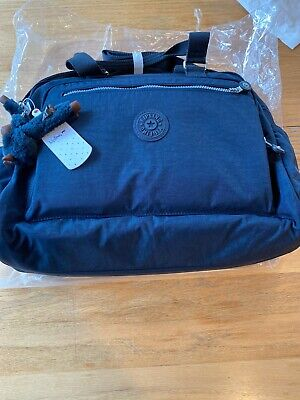 NWT Kipling TM5266 True Blue Alanna Nylon Diaper Baby Bag Tote Change Pad