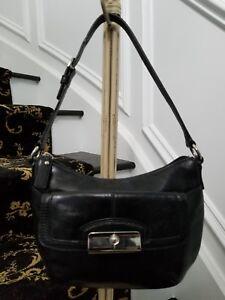 Coach Kristin small black leather hobo/handbag VGU