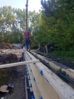 Grade beam work, competitive pricing, free quotes!