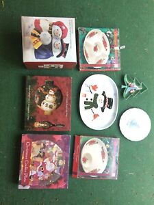 Lots of Xmas serving ware& cookiejar