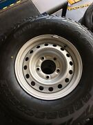 Toyota landcruiser tubeless steel rims/ tyres Lawnton Pine Rivers Area Preview