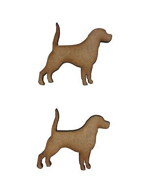 10x Labrador Dogs 4cm Wood Craft Embelishments Laser Cut Shape MDF