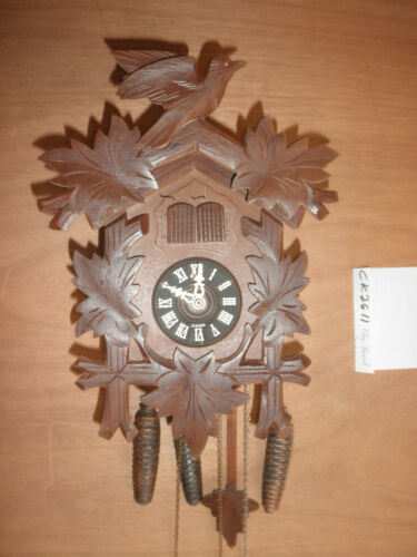 Cuckoo Clock German Black Forest SEE VIDEO musical 1 Day CK2611