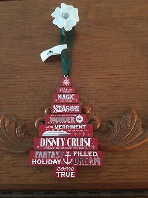 Disney Cruise Line Christmas Tree Ornament New Free Shipping ()