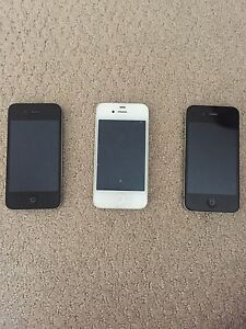 2 iPhone 4 and one iPhone 4s for sale