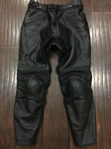 RARE🔥? Dainese Lady Women's Black Leather Pants Protective Gear Trouser Sz 48 10