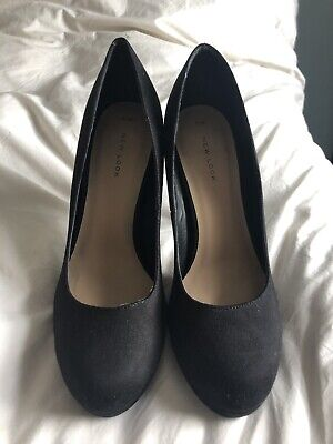 NWT New Look Black Platform round Toe High Heel Shoes. Sz. 7. Wedding/cruise Black Round Toe High Heel