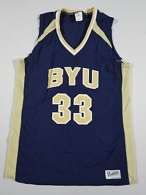 POWERS Mens BYU Cougars #33 Basketball Jersey | Navy | Large | - Byu Cougars Mens Basketball
