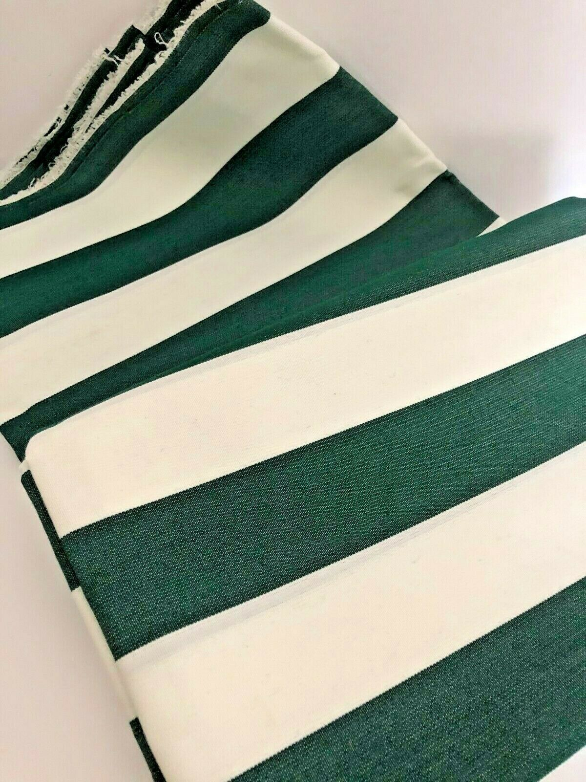 vtg unused outdoor fabric forest green awning