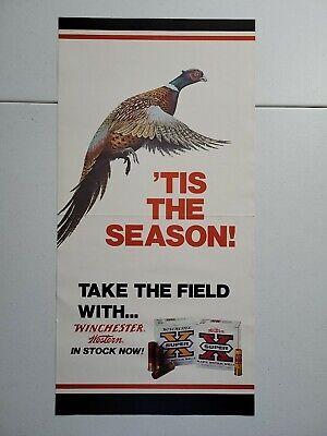 Vintage Winchester Western Shotgun Hunting Gun Store Display Advertising Poster