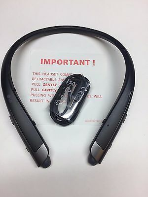 Genuine LG Tone Platinum HBS-1100 Bluetooth Headset Harman Kardon black