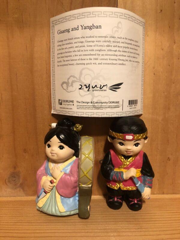 Deirume Korean Folk Dolls Loving Couples Hand Painted