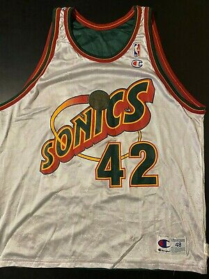 Vintage 90s Seattle SuperSonics Vin Baker Reversible NBA Champion Jersey Size 48