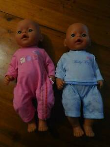 Baby Born Dolls x2 Smithfield Plains Playford Area Preview