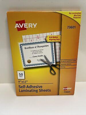 Avery Self-adhesive Laminating Sheets 9 X 12 Box Of 50