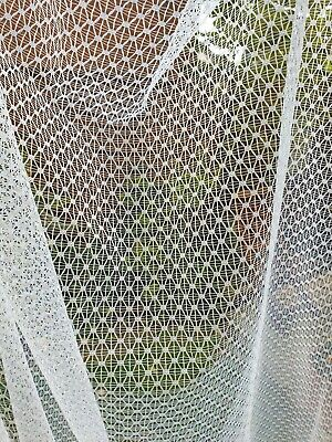 "Vintage White Net Curtains 112"" x 59"""
