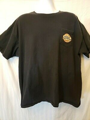 HARLEY DAVIDSON Motorcycle T-Shirt Mountain State HD Black Mens 2XL. Pocket Frnt