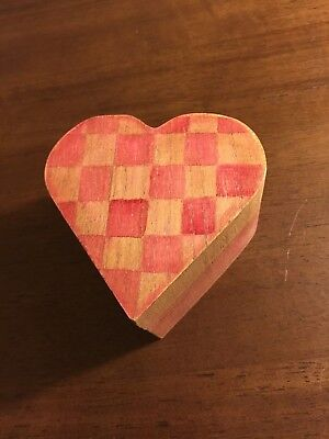Fashion Heart-Shaped Box Wooden Jewelry Storage Wood Love Boxes (Nirvana (Heartwood Jewelry Boxes)