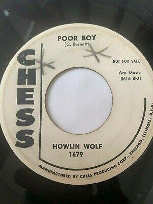"""Blues R&B Promo 45/ Howlin Wolf """"Poor Boy""""  Chess Hear"""
