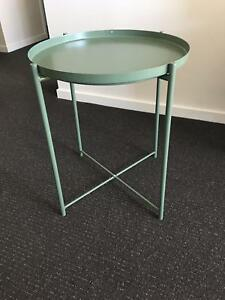 Side/Tray Table (IKEA 'Gladom' Model) Green Steel AS NEW Bruce Belconnen Area Preview