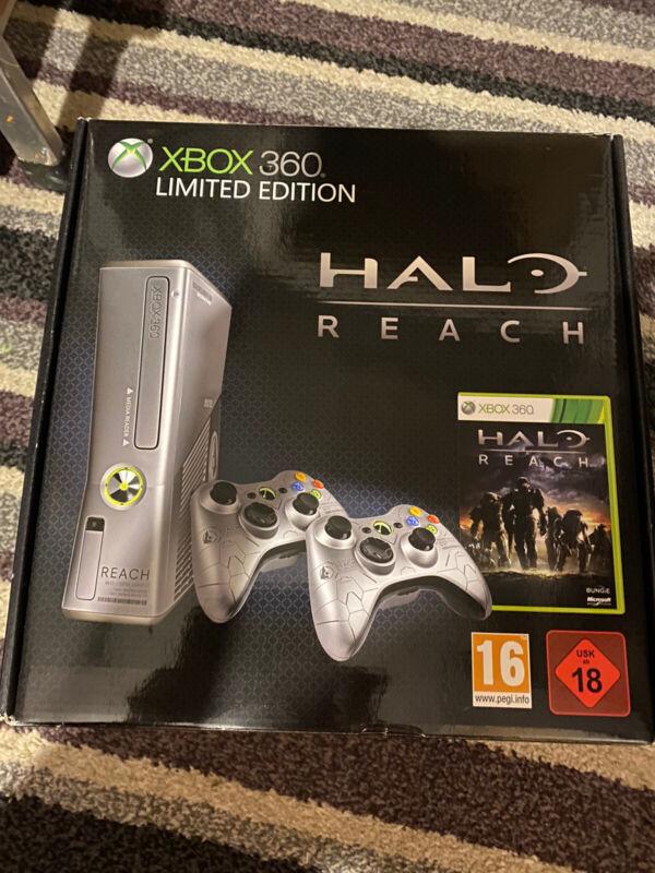 Microsoft+Xbox+360+S+Halo%3A+Reach+Limited+Edition+250GB+Silver+Console