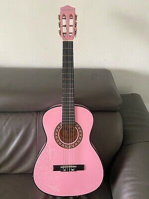 PlayOn Girls Pink Guitar good condition with soft case
