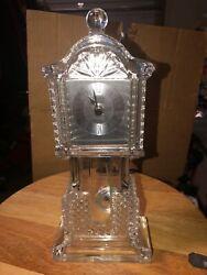 Crystal Legends by Godinger Mini Desk Grandfather Clock Works With Pendulum