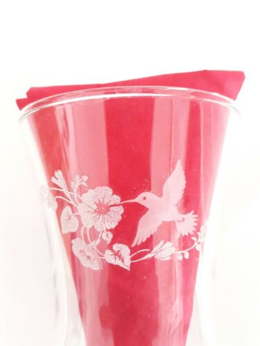 Homco Home Interior 2 HUMMINGBIRD Glass Peg Votive CUP Candle Holders
