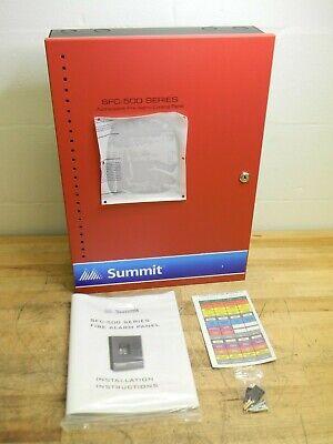 Summit Addressable Fire Alarm Control Panel 60-point 1-loop Sfc-500-60-dr