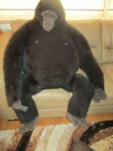 "Koko Plush Gorilla Life Size  Dakin Vintage 1986 Length 49"" Tall Chest 35"" Wide"
