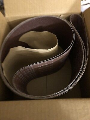 2 Pack Steel City 6 X 89 80 Grit Sandpaper Belts For Edge Sander 55321