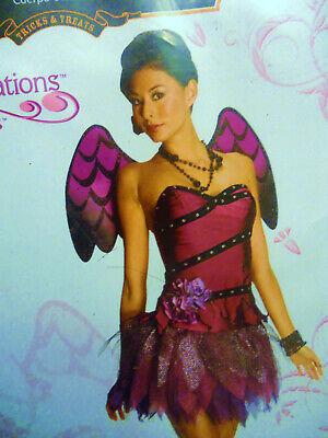 women haloween costume SWEET SENSATION  SEXY PURPLE Angel / or devil !  M 8 / 10