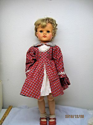 "Vintage 1950s EEGEE Susan Stroller Doll 28"" Vinyl Hard Plastic Walker Needs TLC"
