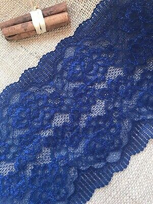 Mid Navy Blue Soft Stretch Lace Wide 7
