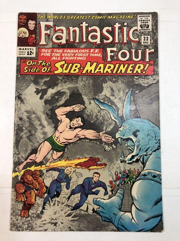 Fantastic Four #33 (Marvel 1964)1st Attuma - Sub-Mariner Namor Appearance