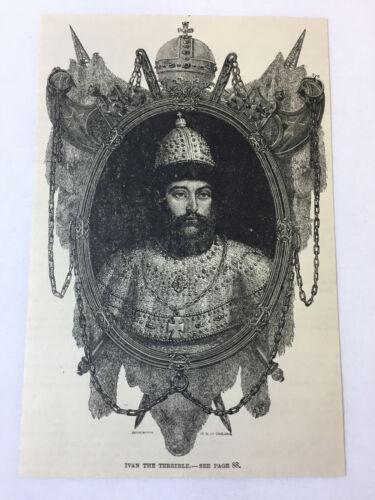 1887 magazine engraving ~ IVAN THE TERRIBLE ~ Russia