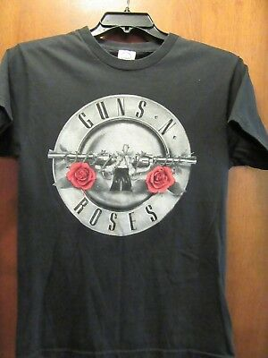 Guns N Roses- Silver Emblem OOP- Black T-Shirt- Small