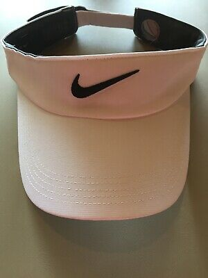 2 Nike Visor Hats White And Navy Adjustable Strap
