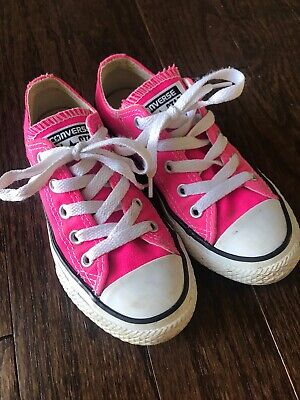 Converse All Star Girls 11 Sneakers Shoes Pink EUC](All Girls Shoes)