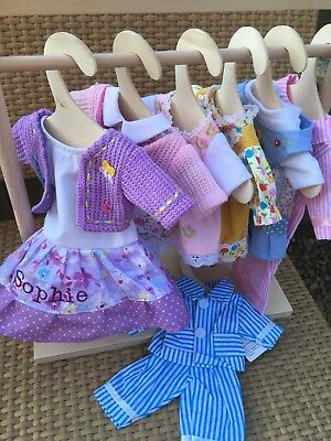 Personalised Rag Doll Clothes To Fit Our 28 cm Ragdolls Any Name Add An Outfit !