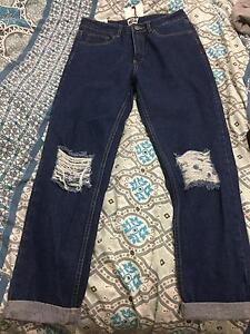 High Waisted Ripped Jeans Size 12 Thornton Maitland Area Preview