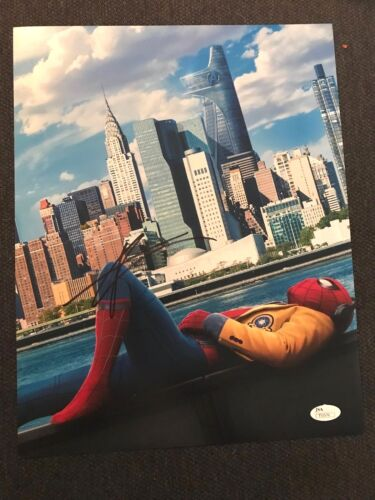 Spiderman Homecoming Tom Holland Autographed Signed 11x14 Photo JSA COA #7