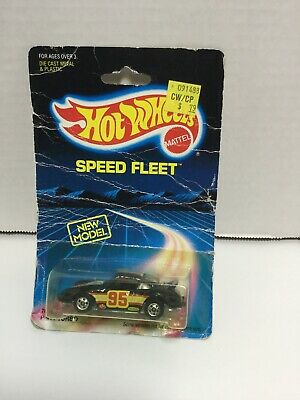 Hot Wheels Porsche P-911 Turbo Speed Fleet Series #7648 NRFP 1988 Black 1:64
