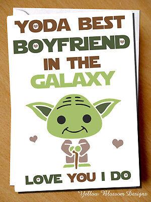 Funny Birthday Christmas Valentines Anniversary Card Yoda BOYFRIEND Star Wars