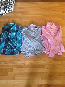 2 American.E+1 Tommy Hilfiger - Button up shirts (10-13 yrs old)